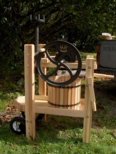 Skookum's cider press